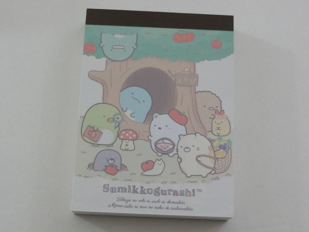 Kawaii Cute San-X Sumikko Gurashi Apple Garden Picnic Mini Notepad / Memo Pad - D