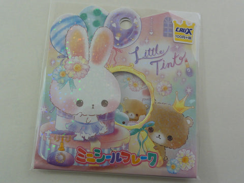 Cute Kawaii Crux Little Tint Rabbit Bear and Squirrel Flake Stickers Sack