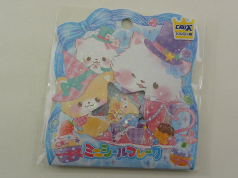 Cute Kawaii Crux Magical Cat Kitten Flake Stickers Sack