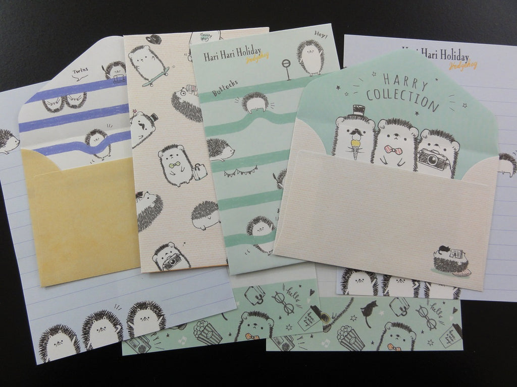 Cute Kawaii Kamio Hedgehog Mini Letter Sets - Small Note Envelope Set Stationery