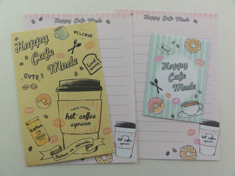 Cute Kawaii Crux Happy Cafe Mode Mini Letter Sets - Small Note Envelope Set Stationery