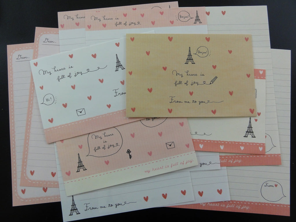 Cute Kamio Kamio My Heart Paris Letter Sets