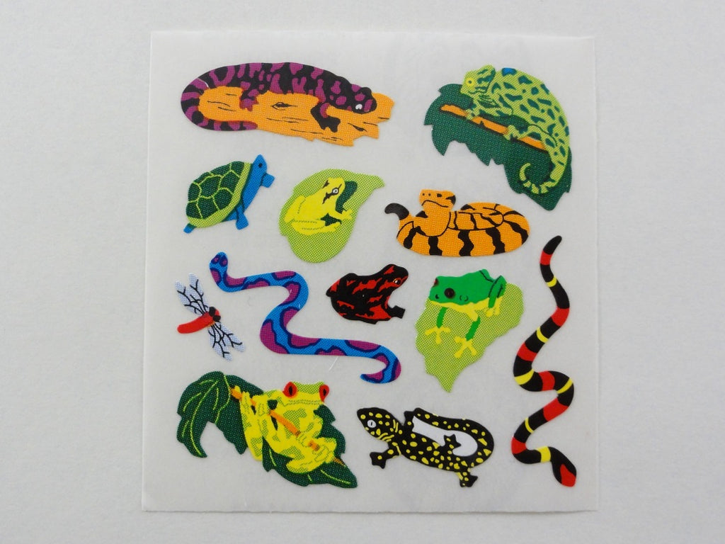 Sandylion Reptiles Snakes Sheet / Module - Vintage & Collectible