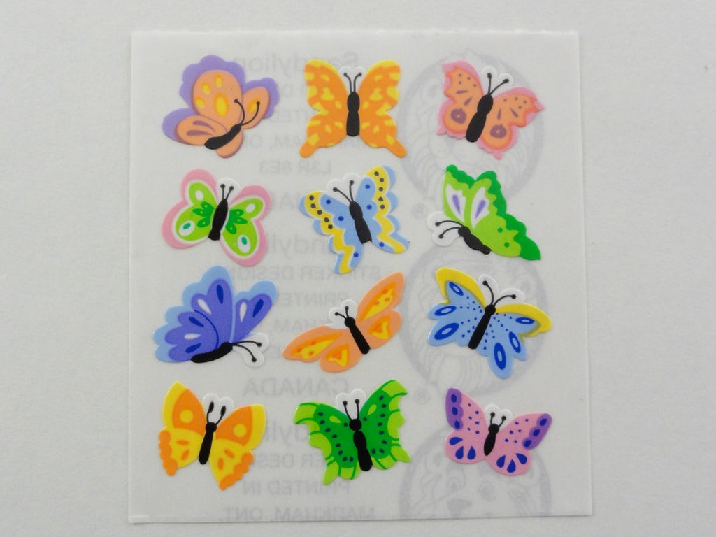 Sandylion Butterfly Sticker Sheet / Module - Vintage & Collectible