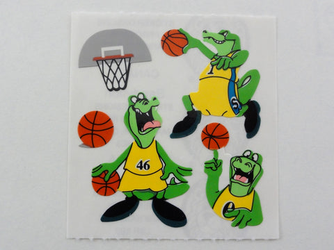 Sandylion Animal Sport Crocodile Basketball Sticker Sheet / Module - Vintage & Collectible