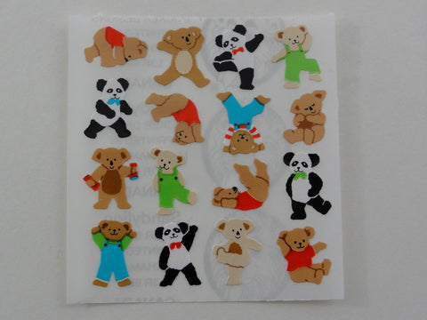 Sandylion Bear Exercise Sticker Sheet / Module - Vintage & Collectible