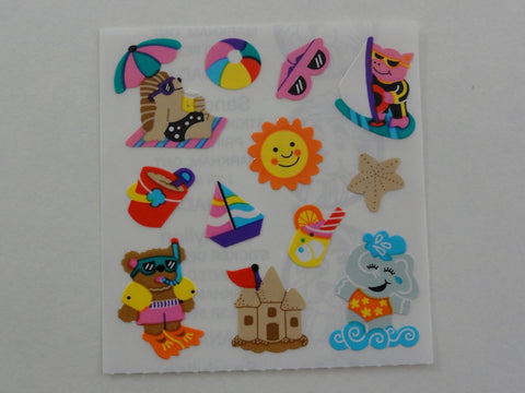 Sandylion Animals at the Beach Sticker Sheet / Module - Vintage & Collectible
