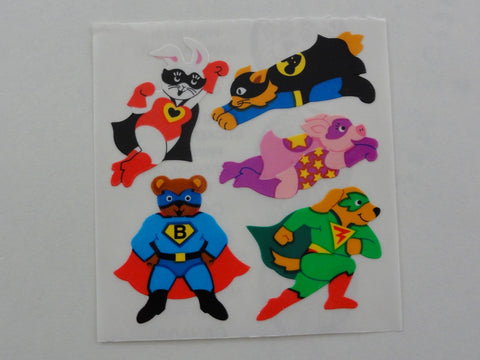 Sandylion Animal Superhero Sticker Sheet / Module - Vintage & Collectible