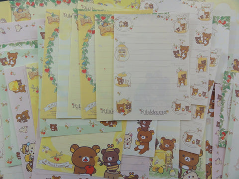 San-X Rilakkuma Bear Honey Memo Note Paper Set