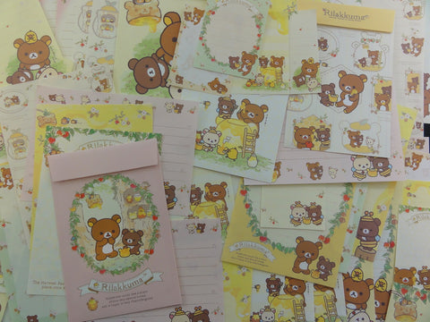 San-X Rilakkuma Bear Honey Stationery Set