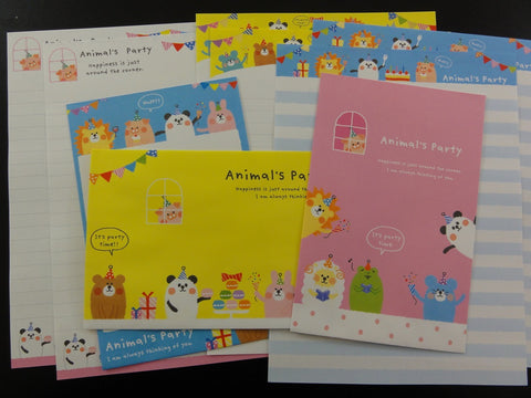 Cute Kawaii Crux Animal's Party Letter Sets - Stationery Writing Paper Envelope