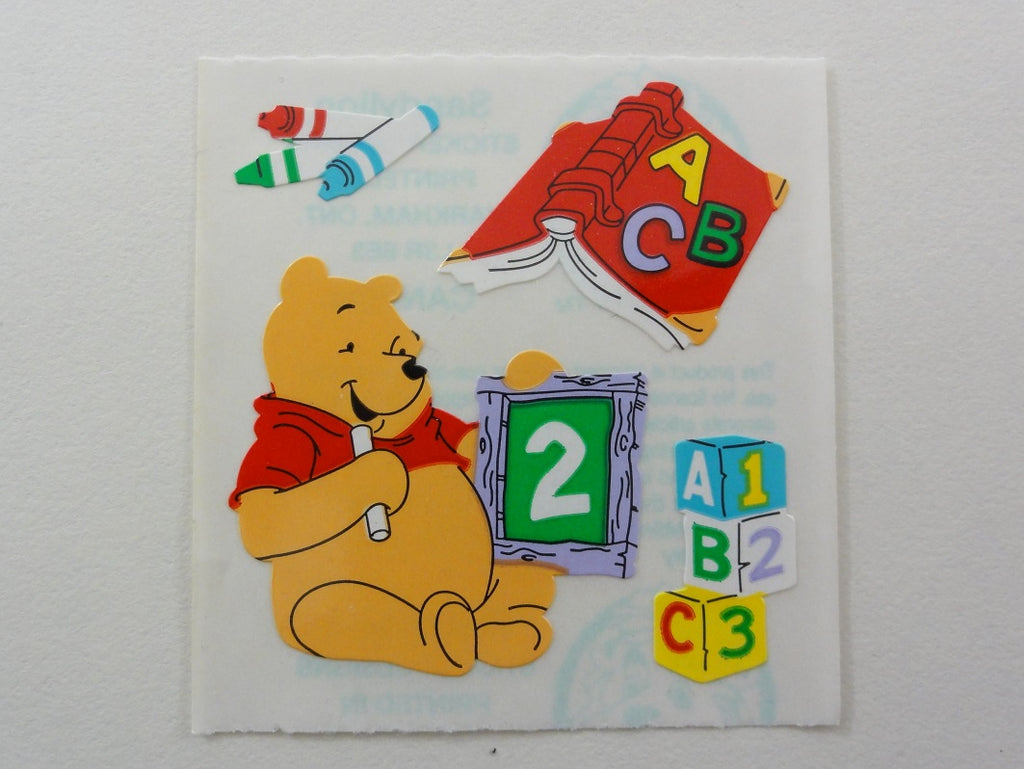 Sandylion Winnie the Pooh ABC Sticker Sheet / Module - Vintage & Collectible - Scrapbooking