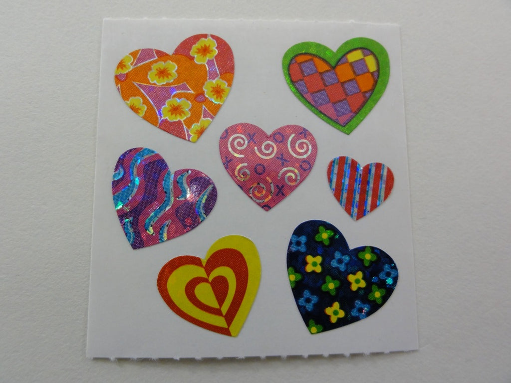 Sandylion Heart Glitter Sticker Sheet / Module - Vintage & Collectible - B - Scrapbooking