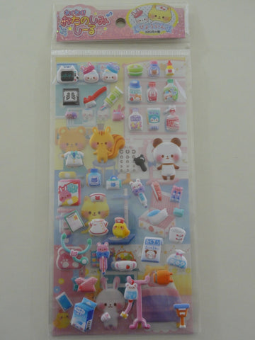 Cute Kawaii Crux Hospital Medicine Doctor Nurse Animal Sticker Sheet - Scrapbooking Journal Planner Collectible