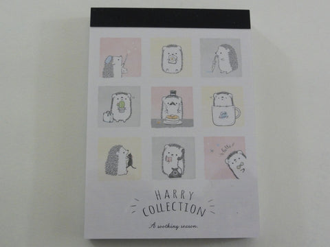 Kawaii Cute Kamio Hedgehog Harry Collection Mini Notepad / Memo Pad