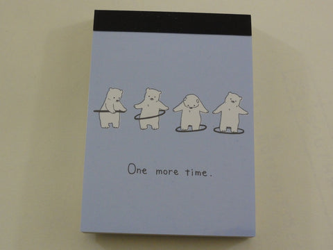 Kawaii Cute Crux Bear One more time Mini Notepad / Memo Pad
