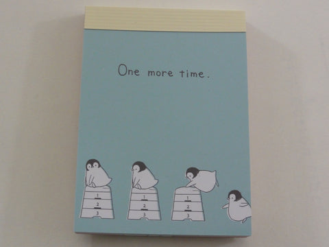 Kawaii Cute Crux Penguin One more time Mini Notepad / Memo Pad