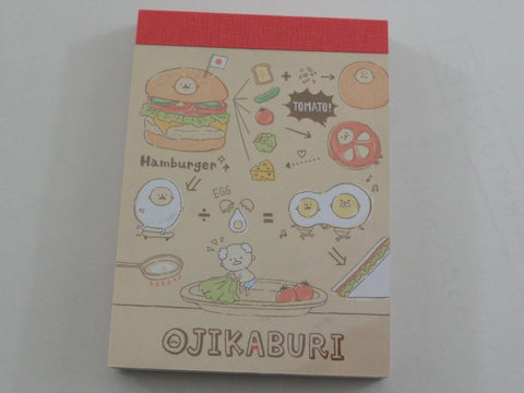 Kawaii Cute Crux Ojikaburi Hamburger Sandwich Mini Notepad / Memo Pad
