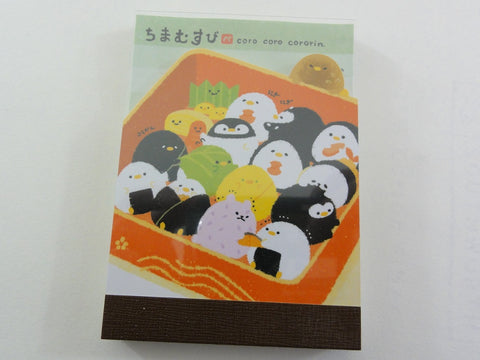 Cute Kawaii Kamio Coro Cororin Sushi Mini Notepad / Memo Pad - B - Stationery Design Writing Collection