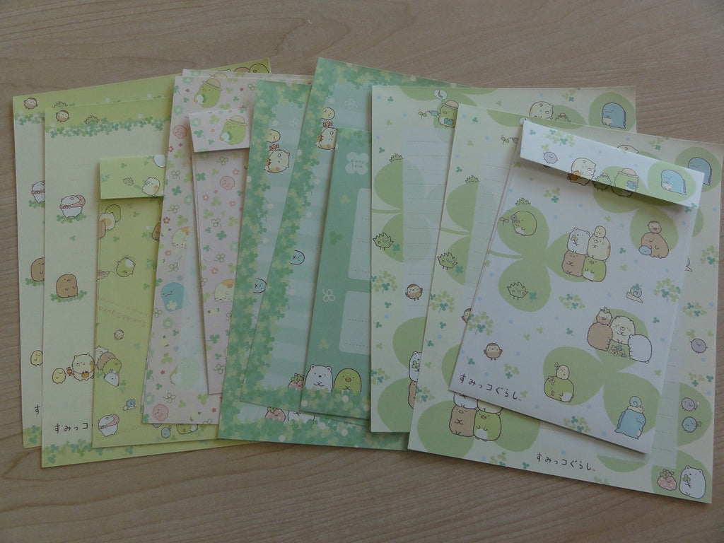 San-X Sumikko Gurashi Green Nature Letter Sets - A