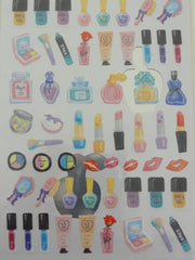 Cute Kawaii Crux Girl Make Up Perfume Sticker Sheet - for Journal Planner Craft