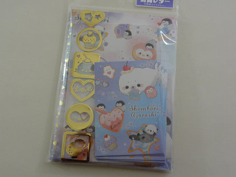 Crux Seal Penguin MINI Letter Set Pack - Stationery Writing Note Paper Envelope