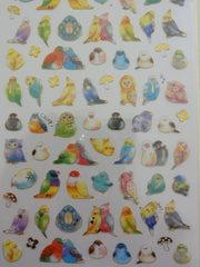Cute Kawaii Crux Birds Spring Sticker Sheet - for Journal Planner Craft