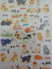 z Cute Kawaii Crux Cats Kitten Sticker Sheet - for Journal Planner Craft