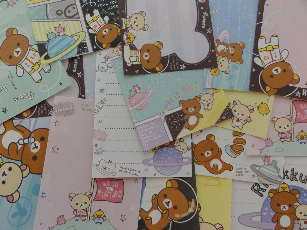 San-X Rilakkuma Bear Space Astronaut Memo Note Paper Set