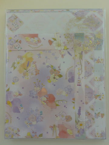 Cute Kawaii San-X Sentimental Circus Flower Fairy Letter Set Pack - A - Stationery Writing Paper Envelope