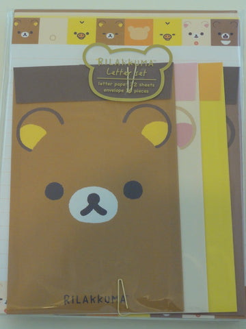 Cute Kawaii San-X Rilakkuma Happy Classic Letter Set Pack