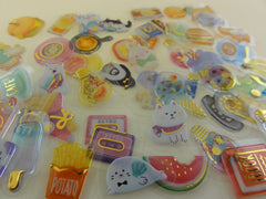 Candy Drop Style Mixed theme Flake Stickers - 50 pcs