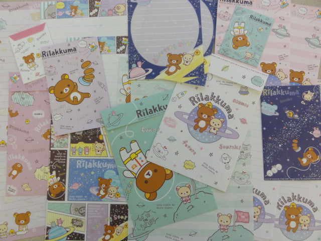 San-X Rilakkuma Bear Space Astronaut Stationery Set
