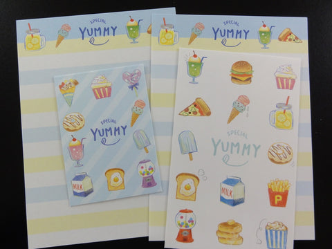 Cute Kawaii Crux Yummy Food Burger Cupcake Dessert Ice Cream Mini Letter Sets - Small Writing Note Envelope Set Stationery