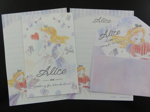 Cute Kawaii Kamio Alice Mini Letter Sets - Small Writing Note Envelope Set Stationery