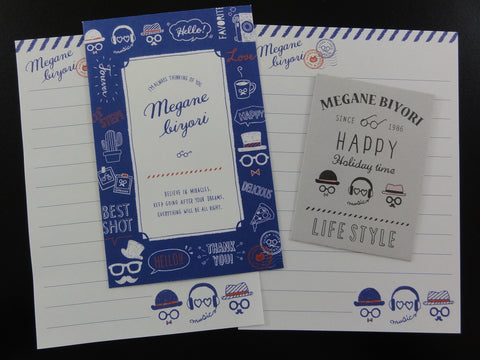 Cute Kawaii Crux Happy Lifestyle Mini Letter Sets - Small Writing Note Envelope Set Stationery