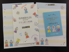 Cute Kawaii Crux Chewing Gums Mini Letter Sets - Small Writing Note Envelope Set Stationery