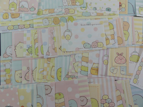 San-X Sumikko Gurashi 154 pc Mini Memo Note Paper Set - Cute Kawaii Writing Paper Stationery