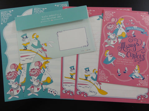 Cute Kawaii Alice Fairy Tale Letter Sets - Writing Paper Envelope Stationery