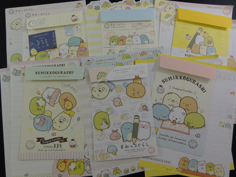Kawaii Cute San-X Sumikko Gurashi Group Exam Study Letter Writing Paper + Envelope Theme Stationery Set