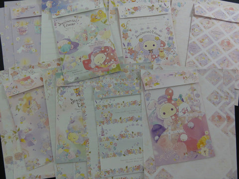Kawaii Cute San-X Sentimental Circus Flower Fairies Letter Writing Paper + Envelope Theme Stationery Set