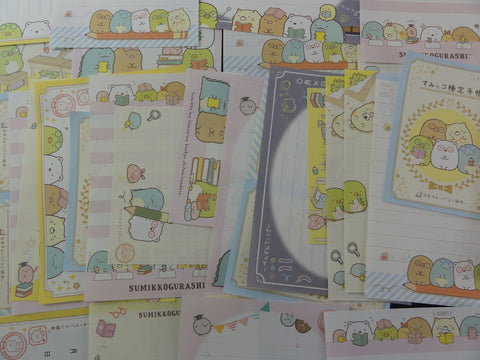 San-X Sumikko Gurashi Group Study Memo Note Writing Paper Set - Stationery Special Gift