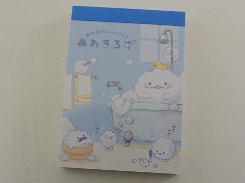 Cute Kawaii Kamio Bubble Bath Mini Notepad / Memo Pad - Stationery Design Writing Collection