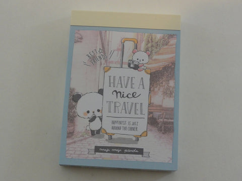 Cute Kawaii Crux Travel Panda Mini Notepad / Memo Pad - Stationery Design Writing Collection