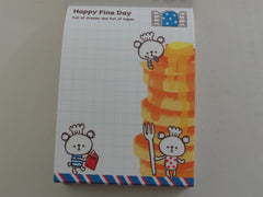 Cute Kawaii Crux Happy Fine Day Bear Mini Notepad / Memo Pad - Stationery Design Writing Collection