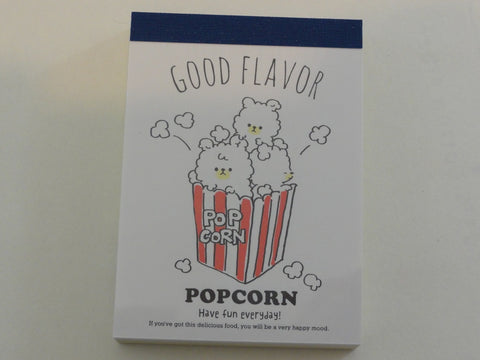 Cute Kawaii Q-Lia Popcorn Food theme Mini Notepad / Memo Pad - Stationery Design Writing Collection