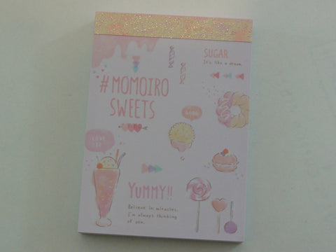 Cute Kawaii Crux Momoiro Sweets Milk Shake Pastry food theme Mini Notepad / Memo Pad - Stationery Design Writing Collection