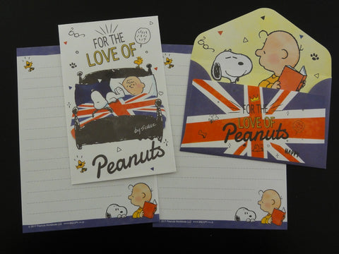 Cute Kawaii Kamio Peanuts Snoopy Mini Letter Sets - E - Stationery Small Note Envelope