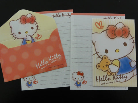 Cute Kawaii Sanrio Hello Kitty Mini Letter Sets - Stationery small Note Envelope