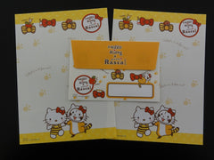 Cute Kawaii Sanrio Hello Kitty Rascal Mini Letter Set - Stationery small Note Envelope